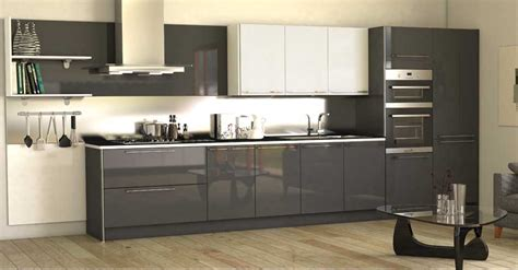 Grey Gloss Kitchen Cabinets by High Gloss Kitchen Cabinet Grey Http Makerland Org