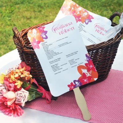 design your own church fans wedding program ideas wedding ideas