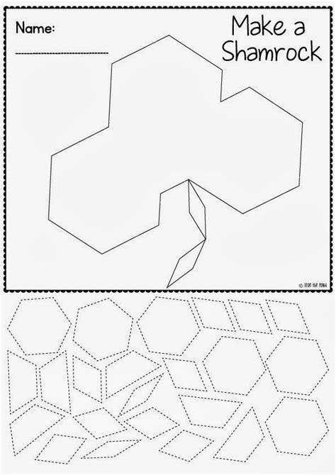 pattern block shape worksheets 1000 images about st patrick s day math ideas on pinterest