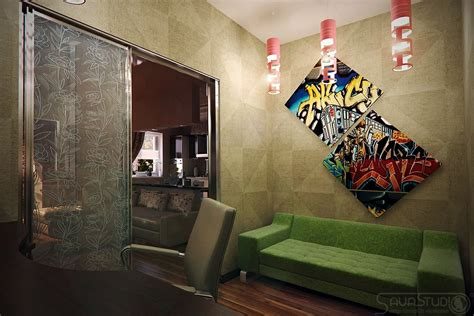 graffiti art home decor vibrant interiors by sava studio
