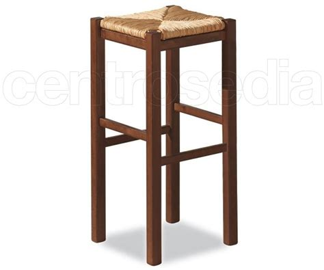 sgabello rustico rustico sgabello alto legno seduta paglia sgabelli legno