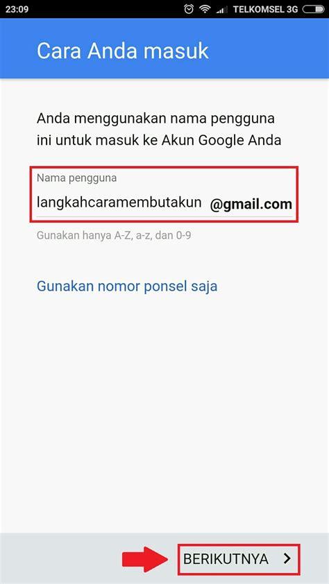 buat akun lewat gmail buat akun gmail baru lewat hp android daftar email