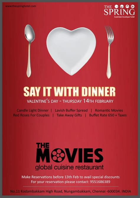 valentines day resturant the restaurant programs the