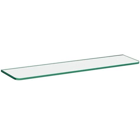 24 Glass Shelf dolle 24 in x 5 in x 5 16 in standard line shelf in clear glass 30302 the home depot