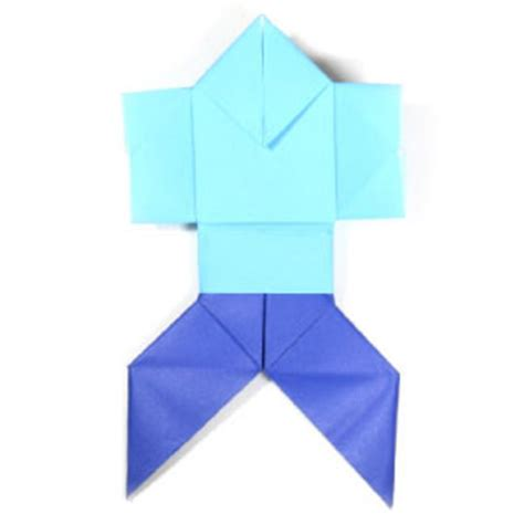 Origami Person - how to make a traditional origami page 1