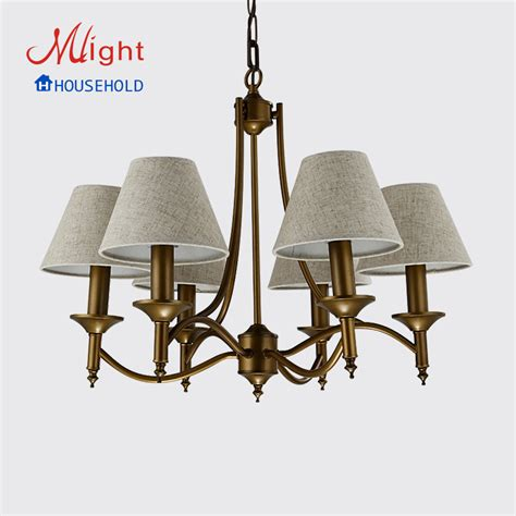 chandelier simple 6 arms modern chandelier simple fabric bedroom chandelier