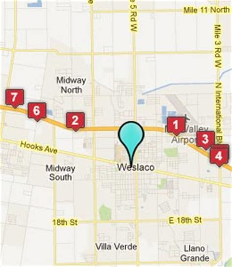 map of weslaco texas weslaco tx hotels motels see all discounts