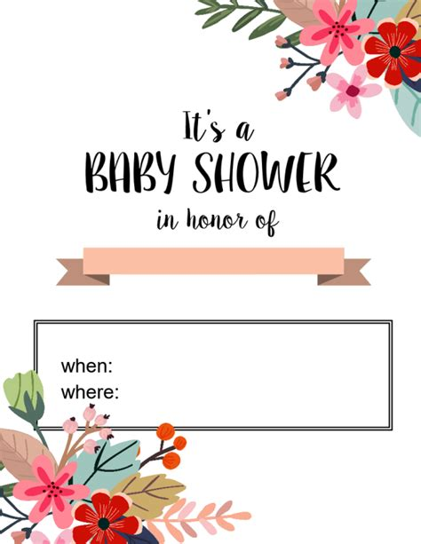 Where Can I Shower For Free by All Free Baby Shower Invitations To Print