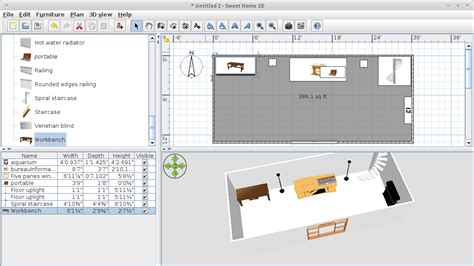 sweet home design software free download diy use sweet home 3d to design your office or workspaces