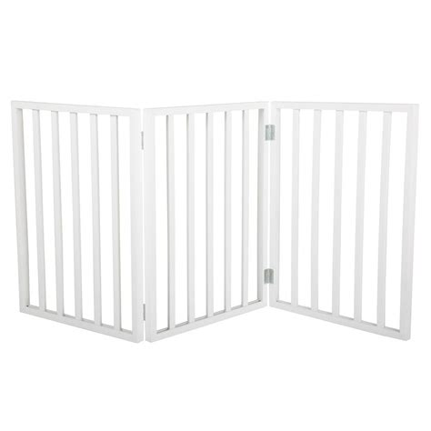 white wooden gate petmaker 24 in x 54 in freestanding white wooden pet