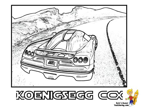 Koenigsegg Agera R Coloring Pages Agira R Colouring Pages