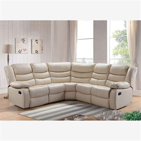 Reclining Sofas Uk Belfast Reclining Corner Sofa In Ivory Bonded Leather