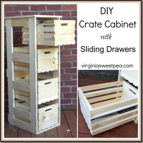 making sliding cabinet drawers diy crate cabinet with sliding drawers sweet pea
