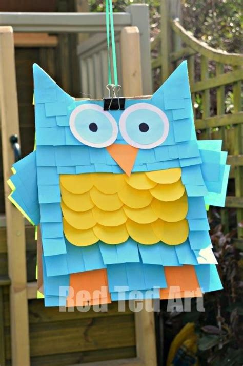 How To Make A Paper Bag Owl - easy owl pinata craft check out our owl