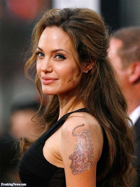 tattoo angelina jolie tiger year of the tiger pictures gallery freaking news