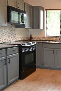 how to paint kitchen cabinets gray how to decorate a kitchen with black appliances and