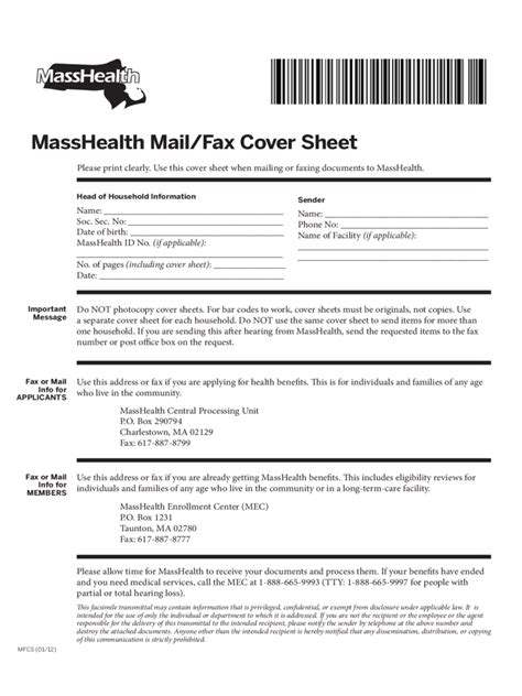 sle masshealth fax cover sheet masshealth fax cover sheet 3 free templates in pdf word