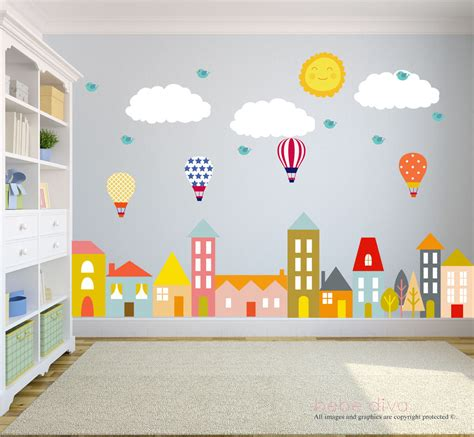 kid room decals city wall decals nursery wall decal wall decals nursery