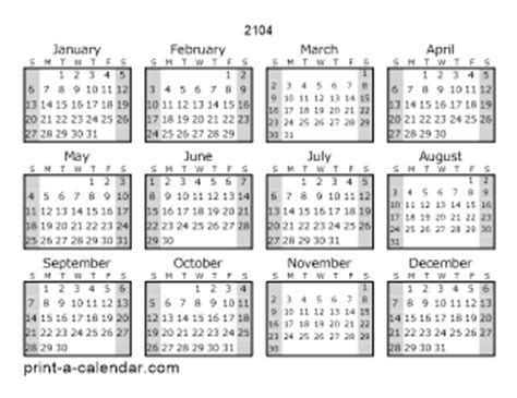 2104 calendar template 2104 printable calendars