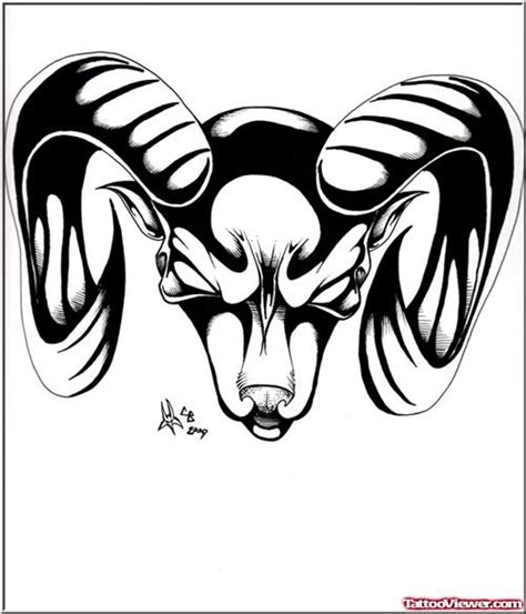 tribal goat head tattoo black tribal goat capricorn design