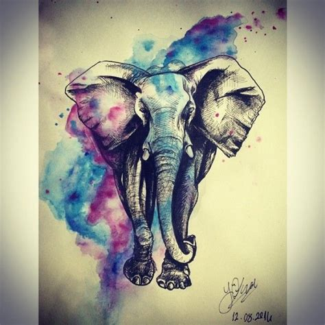 elephant tattoo with background 17 best ideas about watercolor elephant tattoos on
