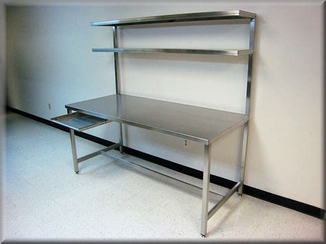 used stainless steel benches rdm stainless steel table with upper shelf model f103p ss