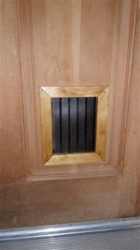 cat door for interior door custom cat door by ray friddle lumberjocks com woodworking community