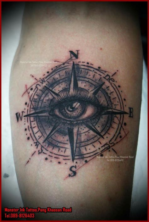 monster ink tattoo compass eye khansan bangkok thailand