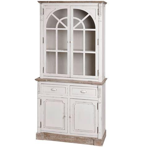 White Kitchen Display Cabinet Lyon Range Antique White Kitchen Display Glazed Cabinet Melody Maison 174