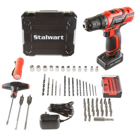 setting drills to do at home stalwart 20 volt lithium ion 3 8 in cordless drill set