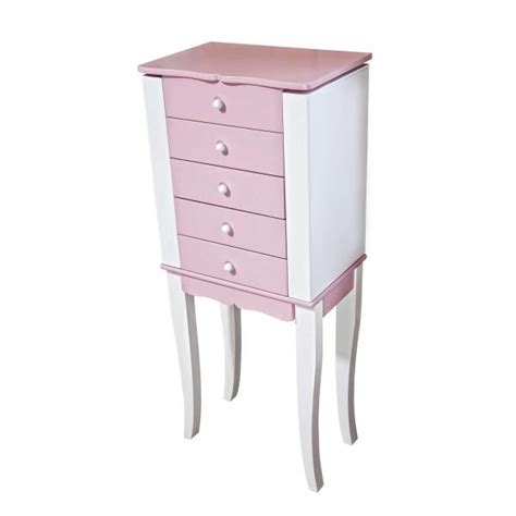 Pink Jewelry Armoire by S Jewelry Armoirepink Drawers White Accents Mirror