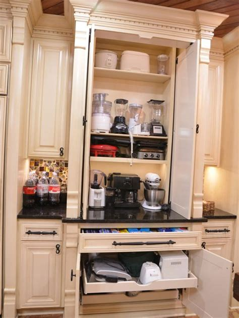 kitchen appliance storage small appliance storage houzz