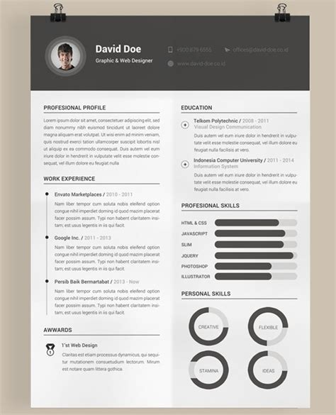 Creative Cv Templates Free by 40 Best 2018 S Creative Resume Cv Templates Printable Doc