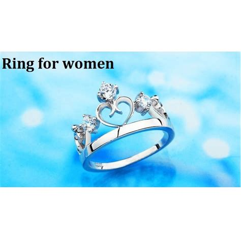 rings silver crown prince and princess for