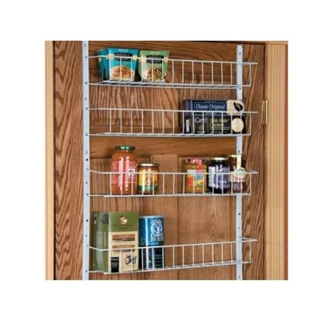 24 quot wide 8 shelf adjustable pantry door rack