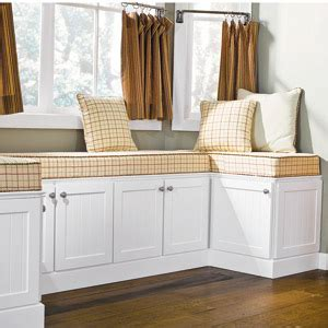 Build A Custom Look Window Seat Using Stock Kitchen
