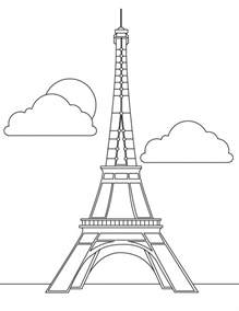 free printable eiffel tower coloring pages for