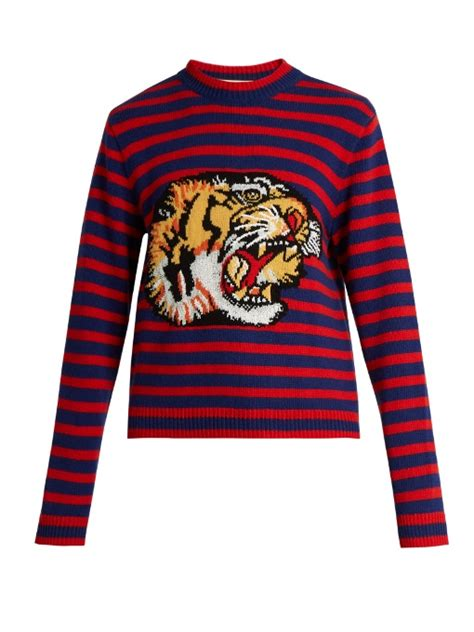 Impressions Stripes Jumper gucci bengal tiger striped intarsia jumper in and blue striped modesens