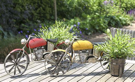 Motorrad Deko by Blumentopfhalter Motorrad Garten Deko Mit Pflanztopf Aus