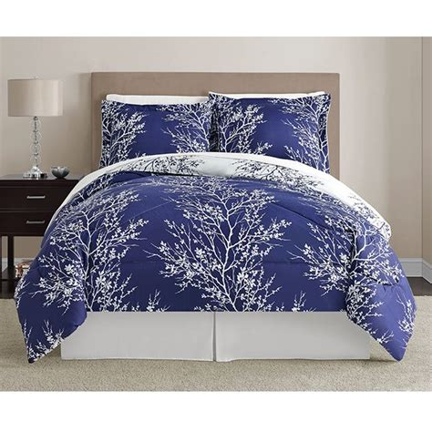 navy blue and white comforter sets navy and white leaf 8 piece comforter set