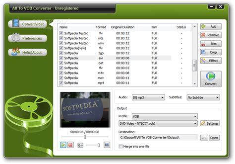 vob format video converter free download yasa vob to mp4 converter v3 8 54