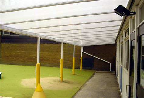 Wall Mounted Awnings Canopies New Monument School Woking Wall Mounted Canopy Able