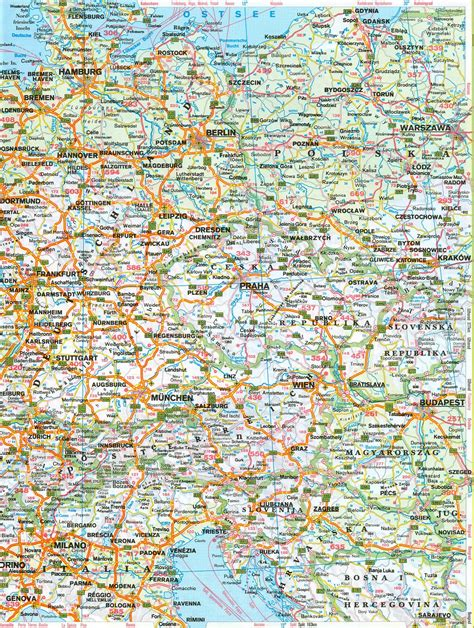 printable road map of europe only pictures road map of europe