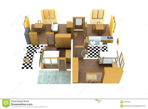 wohnung umrisse apartment royalty free stock photos image 9306198
