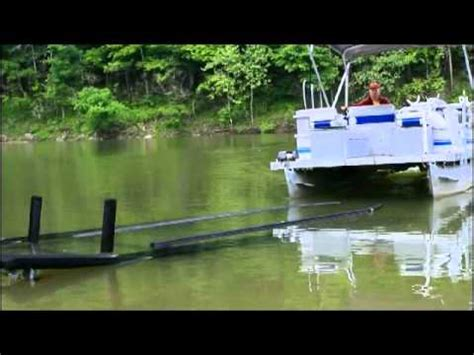 boat trailer guide system pontoon guide rails youtube