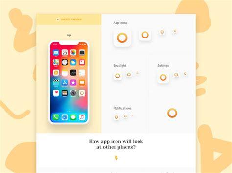 ios sketch template ios app icon template sketch freebie designermill