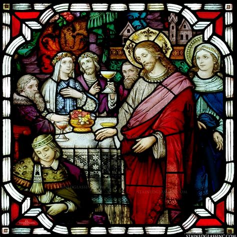 wedding blessing wine quot the blessing of the wine quot religious stained glass window