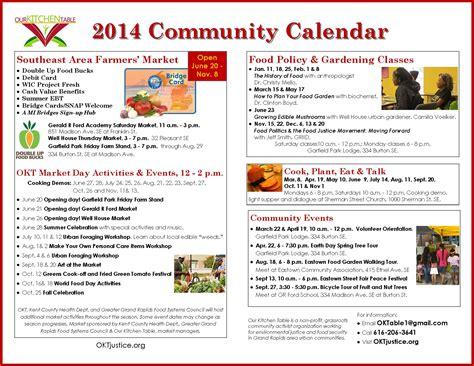 Community Events Calendar   Calendar Template 2016