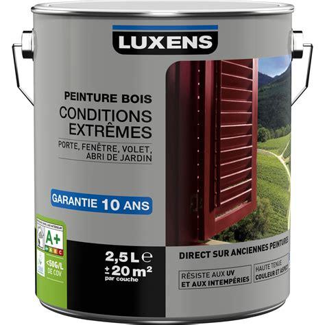 peinture bois ext 233 rieur conditions extr 234 mes luxens blanc blanc n 176 0 2 5 l leroy merlin