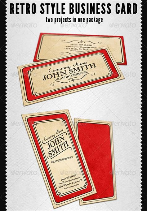 Retro Style Business Card Business Cards Business And Card Templates Vintage Card Templates